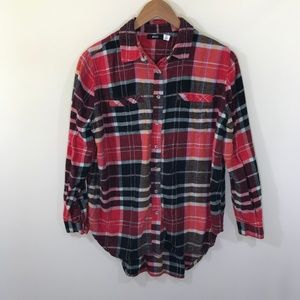 UO BDG Flannel Plaid Button Down Shirt Size Size